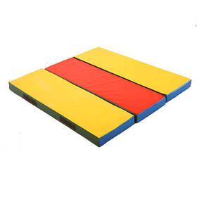 Мат гимнастический, спортивный для детей, складной Мат лавочка 120х120x8 см