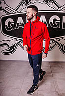 Спортивный костюм мужской весенний красный в стиле Nike Jordan. Кофта + штаны. Спортивний костюм чоловічий