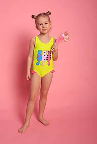 Оптом дитячий злитий купальник для дівчаток (арт. 11-4078) 28р-36р.
