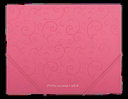 """Папка пласт. А5 на резин. """"BuroMax"""" Barocco рожева BM.3902-10"""