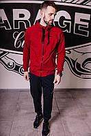 Спортивный костюм мужской весенний бордовый в стиле Nike Jordan. Кофта + штаны. Спортивний костюм чоловічий