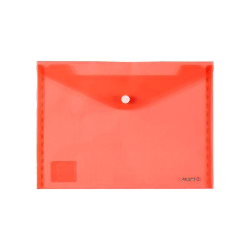 """Папка на кнопці А5 """"Axent"""" червона 1522-24-A"""