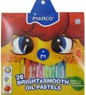Пастель маслянная 24 кольорів Marco Colorite