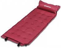 Самонадувающийся коврик туристический походный для отдыха на природе KingCamp красный 196x63x3 см