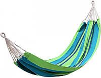 Гамак уличный подвесной для отдыха на природе даче в саду туристический King Camp Canvas Нammock зелено-синий
