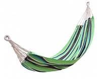 Гамак уличный подвесной для отдыха на природе даче в саду туристический King Camp Canvas Нammock зелено-черный