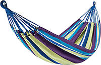 Гамак уличный подвесной для отдыха на природе даче в саду туристический King Camp фиолетово-желтый