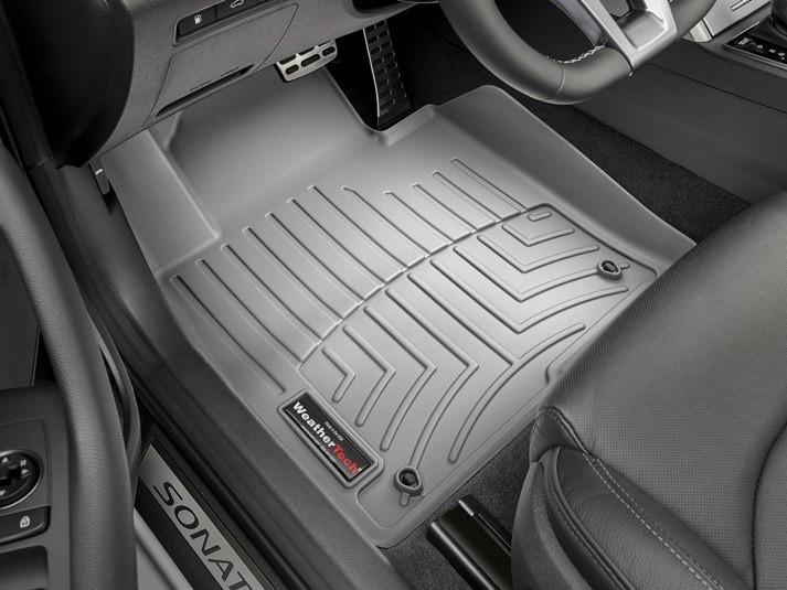 Ковры резиновые WeatherTech Hyundai Sonata 15+ передние серые