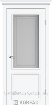 Двери Корфад Classico CL-02 со штапиком в цвете белый перламутр, стекло М3, фото 2
