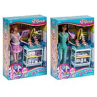 Кукла детский доктор JX200-11 с пупсами мебелью и аксессуарами
