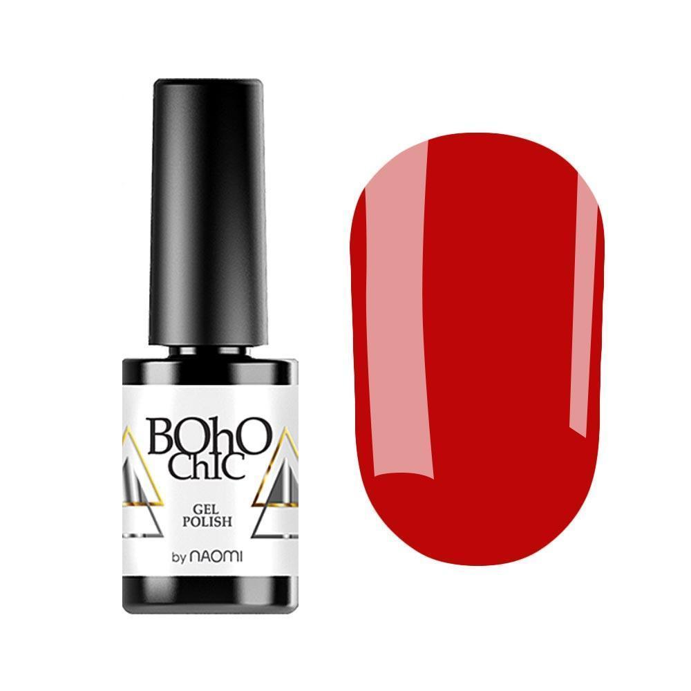 Гель-лак для ногтей Naomi Boho Chic BC078 Красный, 6мл