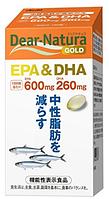 Омега 3 кислоты премиум ASAHI Dear-Natura Gold EPA&DHA Япония, курс на 30 дней