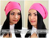 Трикотажная шапка для девушки