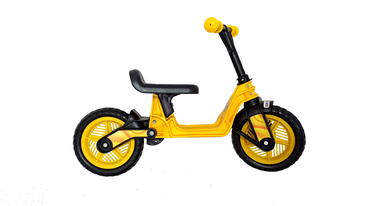 """Велобег Kinderway 10""""  EVA колеса  Желтый (Cosmo bike) 11-014 ЖЕЛ"""