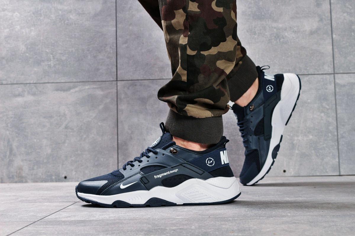 Кроссовки мужские 16223, Nike Air Huarache, темно-синие, < 46 > р. 46-29,5см.