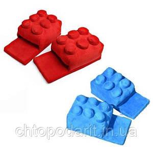 Мягкие комнатные тапочки конструктор Лего, домашние тапочки Lego  Код 14-2763
