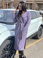 Пальто демисезонное цвет лаванда, фото 1