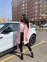 Пальто демисезонное цвет розовый, фото 1