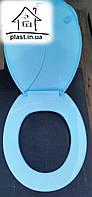 Крышка для унитаза Юнипласт (голубая)