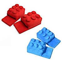 Мягкие комнатные тапочки конструктор Лего, домашние тапочки Lego  Код 14-2762