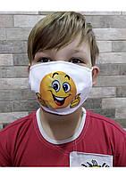 Защитная маска с принтом СМАЙЛИК, фото 1