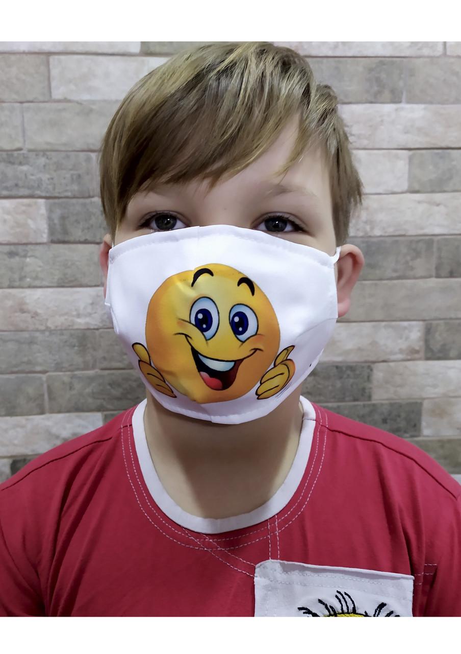 Защитная маска с принтом СМАЙЛИК
