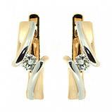 Серьги (золото 585 красное, бриллианты), фото 2