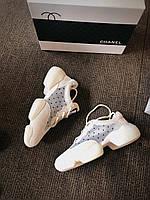 Кроссовки сникерсы Chanel sneakers белые