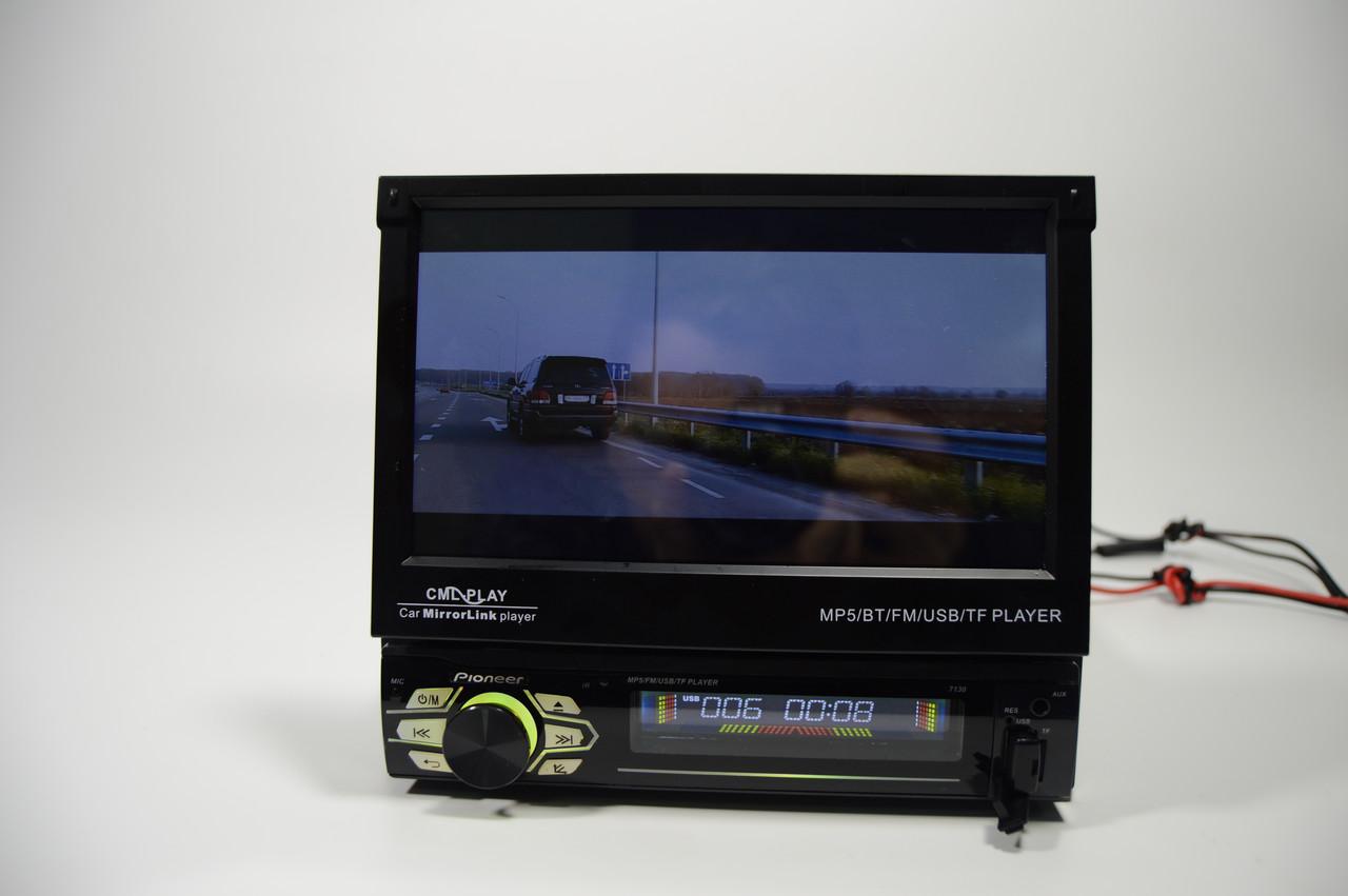 """Автомагнитола 1din Pioneer 7130 (магнитола пионер с 7""""сенсорнымэкраном+Bluetooth+пульт на руль)+ПОДАРОК!"""