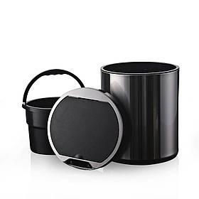 Сенсорное ведро для мусора с внутренним ведром Jah 6л Черное (Papatya-TM)