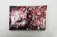 Декоративні сердечка, що блищать 13 мм, 0,5 кг червоні +срібло мікс Kidis