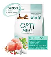 Сухой корм для котят Optimeal (Оптимил) с курицей  4 кг.