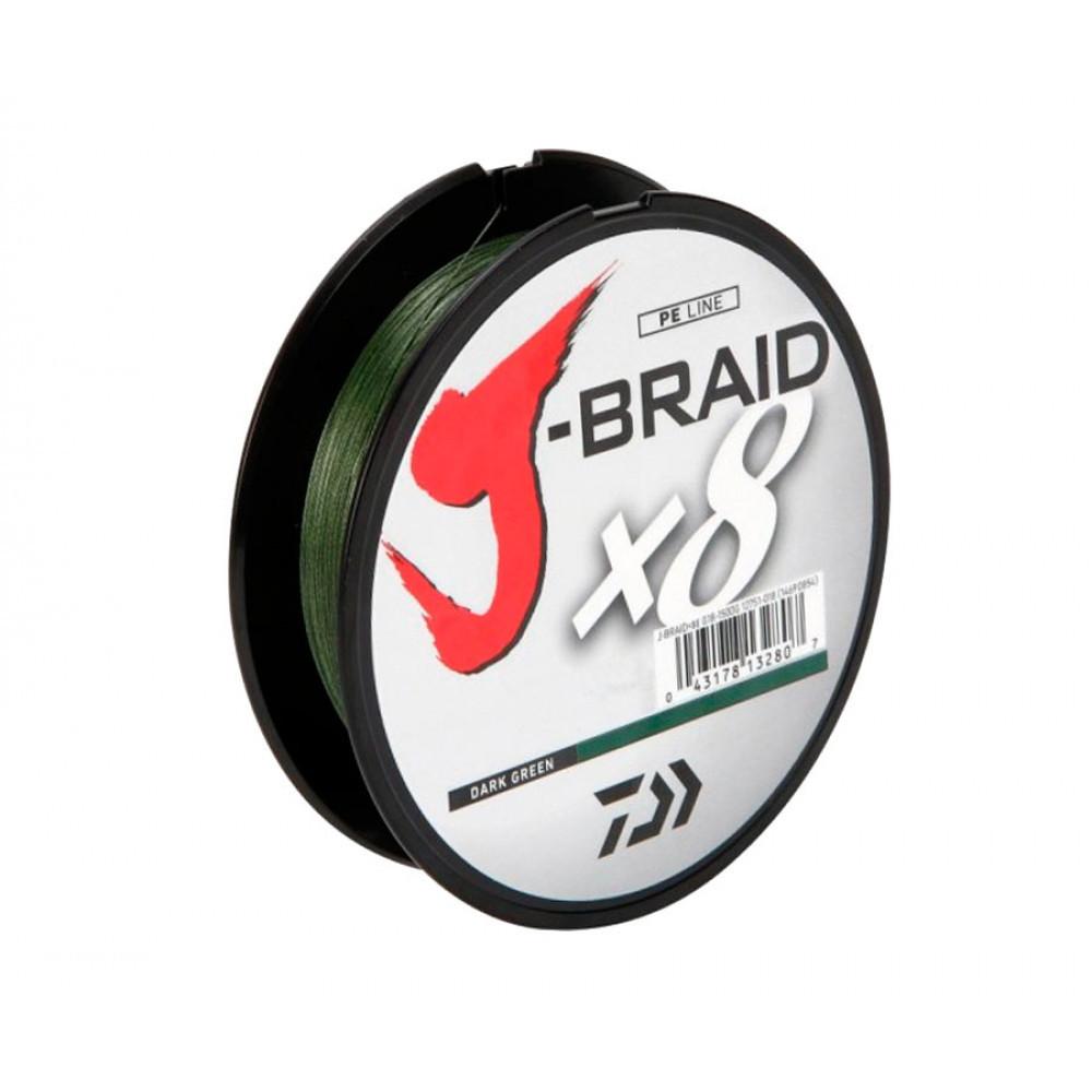 Шнур Daiwa J-Braid X8 0.10mm-150m 13lb 6kg Dark Green