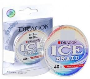 Шнур DRAGON ICE Braid 0.12 mm/10.60 kg 40 m