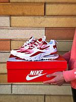Кроссовки женские Nike Air Max 270 белые с красными вставками (ТОП реплика)