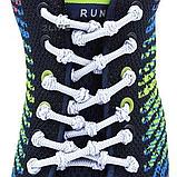 Шнурки для обуви с узелками эластичные  2Life Белый (n-501), фото 2