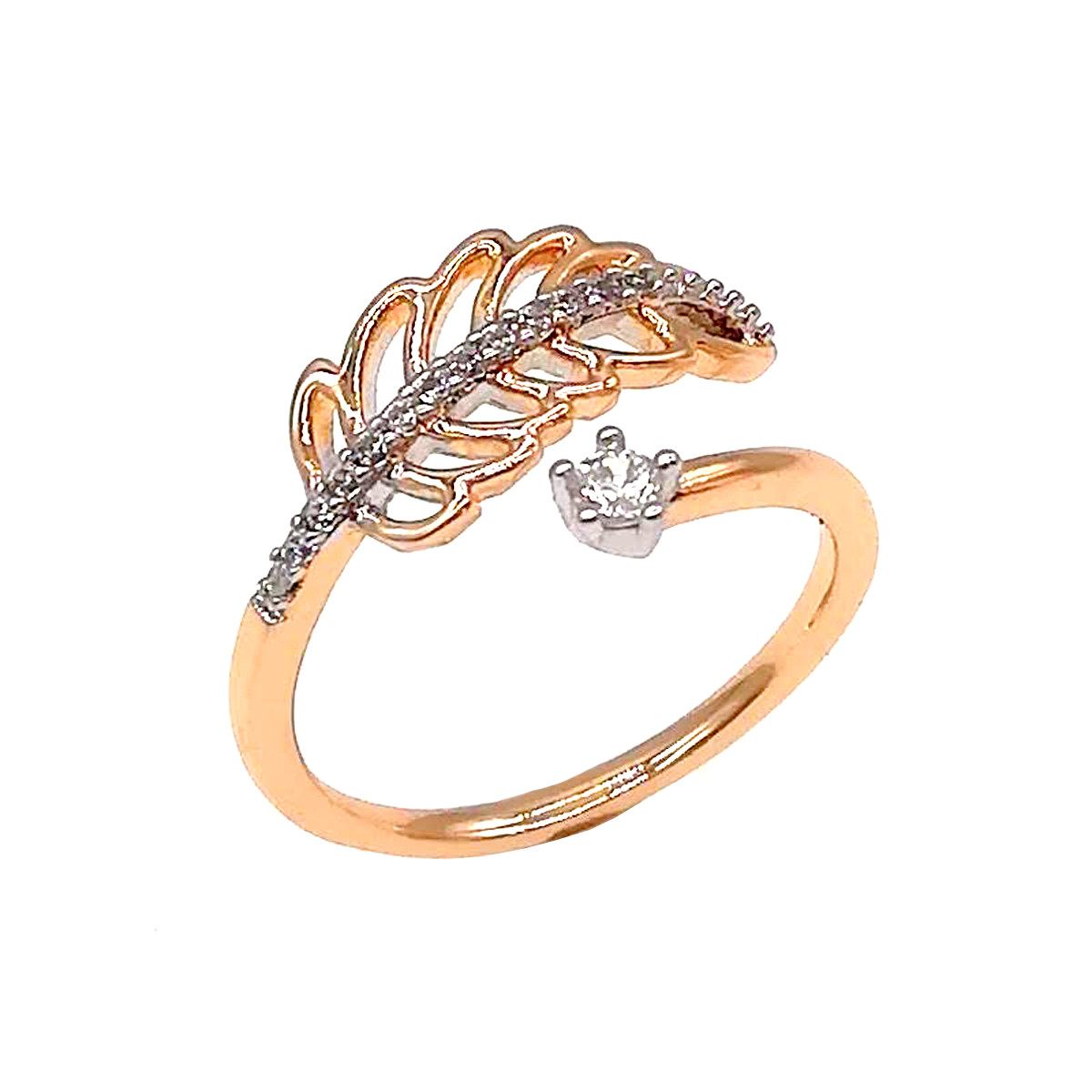 Кольцо Xuping из медицинского золота, белые фианиты, позолота 18К, 11826       (16)