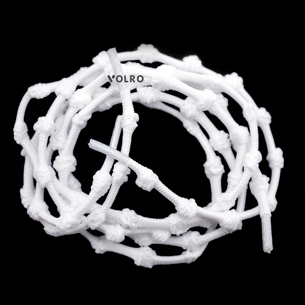 Шнурки для обуви с узелками эластичные VOLRO Белый (vol-501)