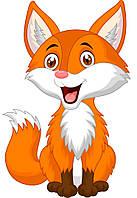 Детская картина по номерам 30*40 Радостная лисичка MEX6417