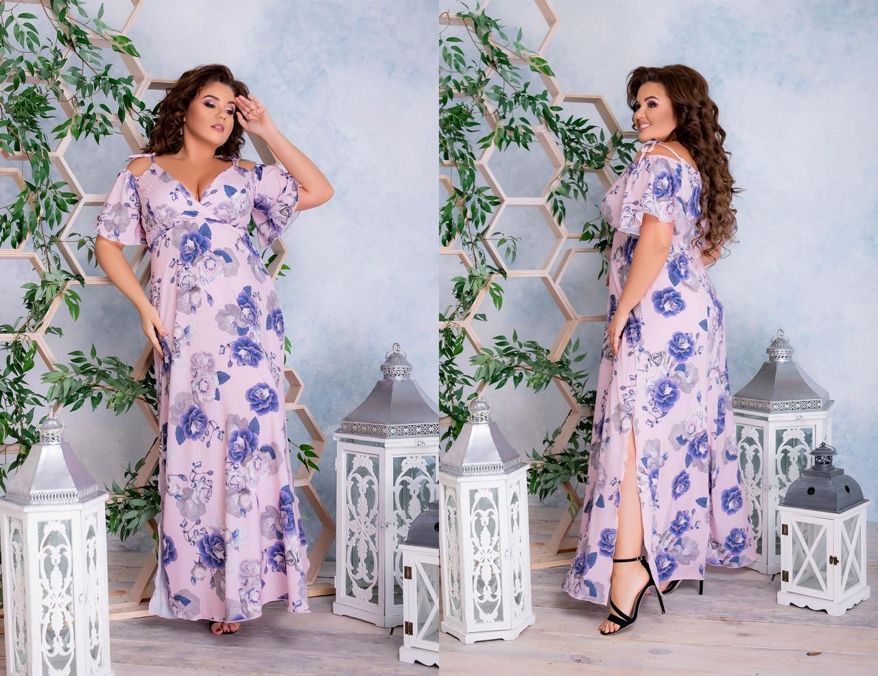 Стильное платье   (размеры 48-62) 0238-35