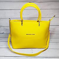 Женская сумка Mісhаеl Коrs, в стиле Майкл Корс MK, желтая ( код: IBG193Y2 )