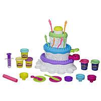 Набор пластилина Play-Doh Cake Mountain Праздничный торт Оригинал Hasbro Днепропетровск