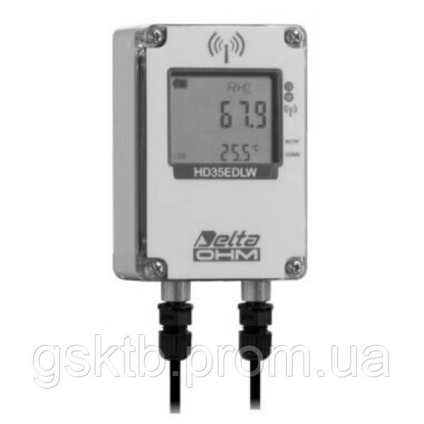 Delta OHM HD35EDW1N/2TC водонепроницаемый, двухканальный WiFi регистратор температуры и влажности для датчиков