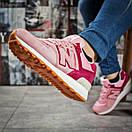 Кроссовки женские 15717, New Balance 574, розовые, < 40 > р. 40-25,2см., фото 5
