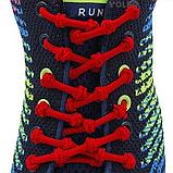 Шнурки для обуви с узелками эластичные 2Life Красный (n-515), фото 3