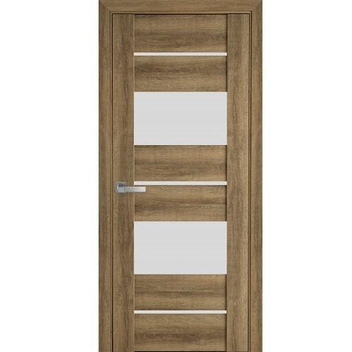 Дверное полотно Аскона (стекло сатин) бук шато