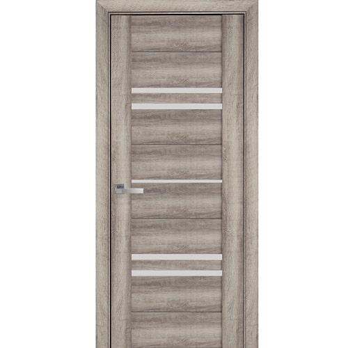 Дверное полотно Мерида (стекло сатин) бук баварский