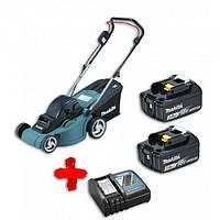 Аккумуляторная газонокосилка Makita DLM380Z + 2 АКБ 3 Ач и зарядное устройство DLXMUA380 (DLXMUA380)