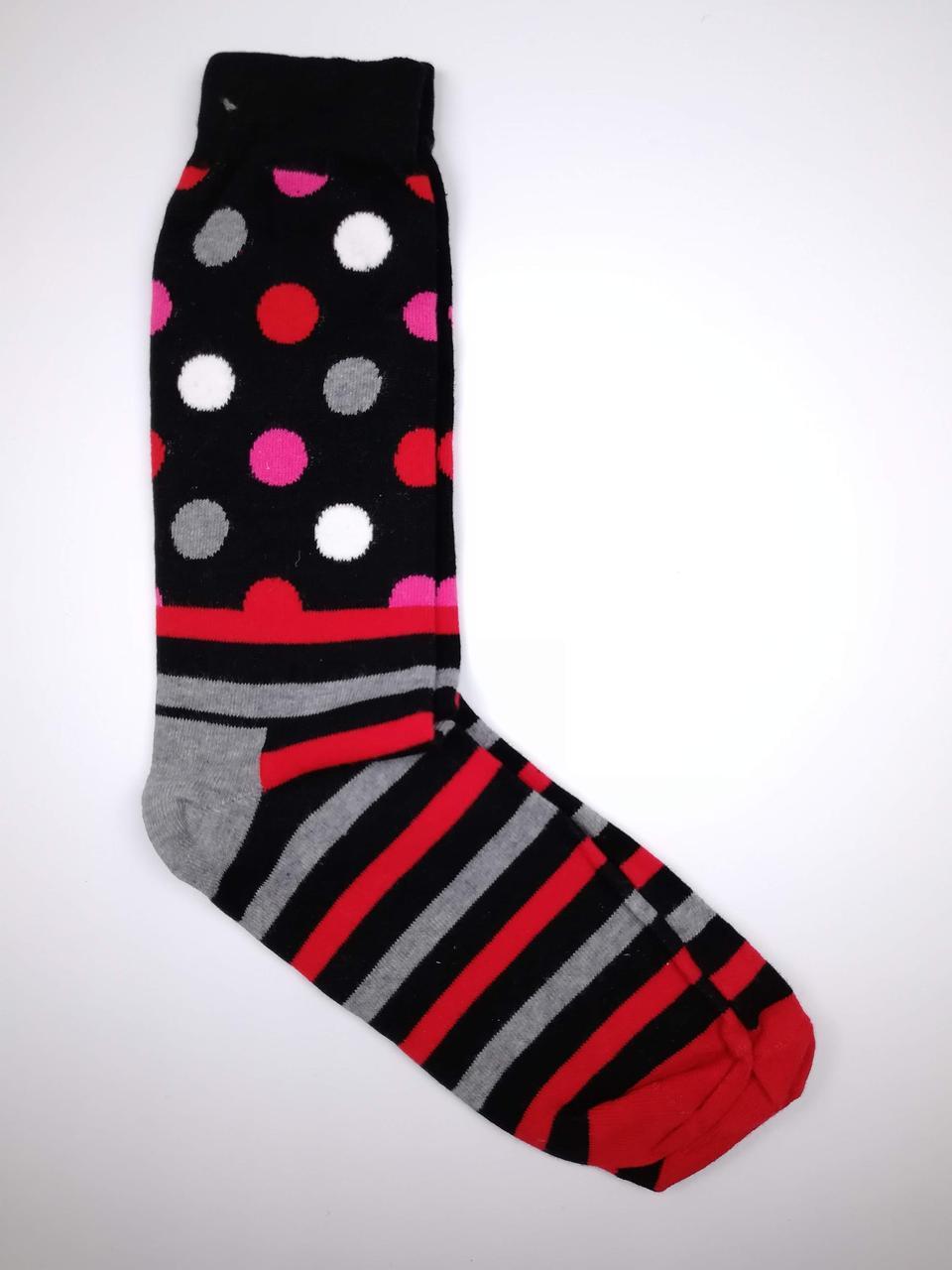 Высокие молодежные носки с принтом Горошек и полоски