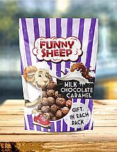 """Попкорн у карамелі зі смаком молочного шоколаду """"Funny Sheep""""  90г. Купити солодкий попкорн 90г"""
